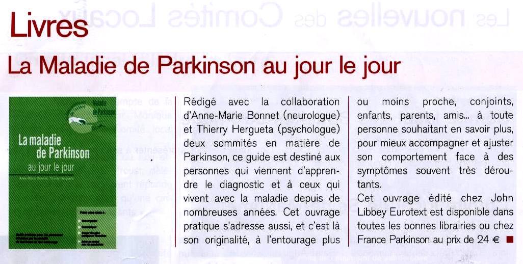 Maladie de Parkinson au jour le jour 2